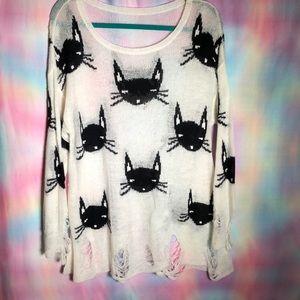 WILDFOX cat sweater